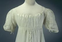 19th century: Regency white / White gowns from early 19th century...
