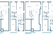 Brighton Town home design / Bungalow town home 1132 Sq. Ft. (end unit)  1213 sq. ft. (special end unit) 2 Bedroom layout