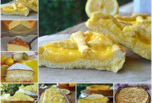 raccolta di dolci al limone