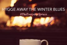 Hygge and cozying on down / Being cosy in the winter!