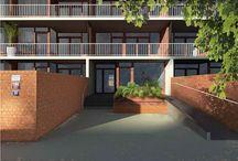 sídliště / komunitní zahrady, prostory kolem domů