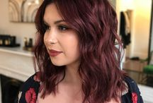 Dark red hair inspiration