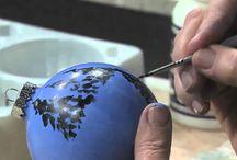 Üveg gömb festés