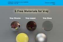 Vray Materials Collection / Every collection contains 5 vray materials for free download