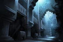 RPG - MIEJSCA - FANTASY / Piny z pomysłami na przykładowe lokacje do gier fabularnych.