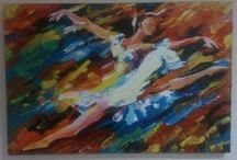 Mis cuadros / Mis cuadros pintados a mano con técnica de espátula. www.almerioleos.com