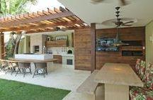 Área de churrasco / espaço gourmet