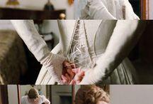 Corset , linen  &  lace