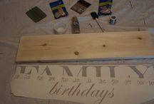 Birthday boards