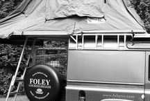 On the road / Foley Land Rover's in action on expeditions