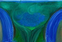 My paintings Lumi5 / Oil on canvas / huile sur toile / öljy kankaalle / olja på duk