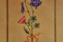 Disegni fiori dipinti