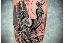 Red Black Outline Tattoos / Outline red black tattoos