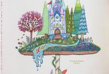Adult coloring book Johanna Basford Enchanted Forest