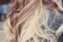 blonde and brown ombri hair