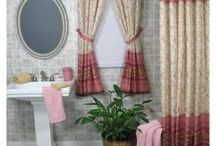 Bathroom curtains / Bathroom curtains, Uses of bathroom curtains mainly concentrate on protecting one's privacy while other people are using the bathroom and prevent water from the shower to splash on the bathroom floor and wet the bathroom rugs. The selections of bathroom curtains in the market are completely unlimited in design, size and shape in which a bathroom curtain can match any style theme and color scheme.