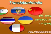 Translation In India /  TranslationInIndia is a Language translation company established in India.We have many years of practical contact with and observation of facts or events in the translation field, we provide over a hundred and fifty language translation services in India and all over the world.