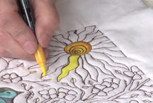 Ink quilting