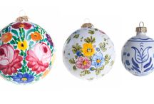 "MERRY CHRISTMAS  ""Natale"" / palline in ceramica decorata a mano  balls decorated ceramic handmade"