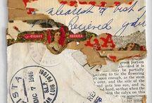 collage bandes papier