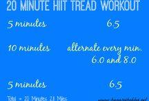 HH Treadmill Workouts / Interval treadmill ideas!