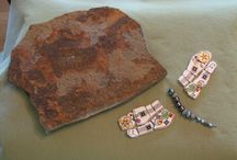 What to do with broken tiles / I just can't throw away a broken tile! I have a bucket of them. I'm always looking for ways to recycle them into something beautiful and useful / by Red Step Studio