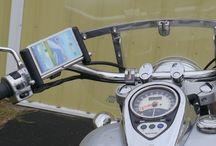Handlebar Mounts / Phone, GPS, Camera and more mounted on any motorcycle with a handlebar