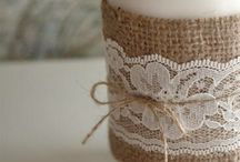 Burlap and mason jars wedding / by Johanna Cody Maedke