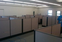 Herman Miller Chicago install / Modern Modular sold, refurbished, delivered and installed these great looking Herman Miller cubicles to Wheaten,  Chicago last year. These cubes were done in tan fabric, black trim and cherry laminate for the surfaces. We can create this look for your office too.