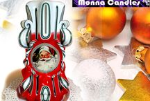 Christmas candles / Enjoy beautiful candles - piece of art for your Christmas Holiday event!