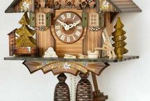 Cuckoo Clocks Chalet Style / Beautiful Cockoo Clocks Chalet Style! Beautiful, traditional home decor from the Black Forest. The cuckoo clocks are handmade and a traditional German interior design piece.