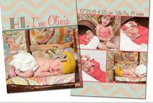 Baby Announcement Templates / Custom Baby/Birth Announcement Card Templates - DIY - .psd Photoshop Files