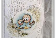 my Birdie digistamps / Digital stamps made by Karin Zander aka Kajsan
