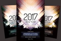 30+ 2017 New Year Party PSD Flyer Template