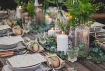 Outdoor table settings