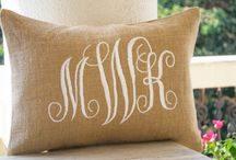 Personalized pillow / Monogrammed luxury accents for your space.  Crafted with care, these monogrammed decorative throw pillow covers will elevate the atmosphere.