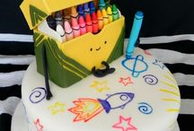 Crayons, Painting & Pencil Cakes