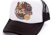 TRUCKERS, SNAPBACKS AND BEANIE HATS / Trucker hats hand screen printed in London.