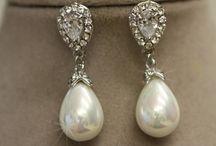 earrings wedding , boucles d oreilles de mariée