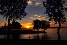 sunsets / lake mulwala sunset
