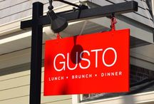 Business After Hours at Gusto / The Chamber's monthly networking event.