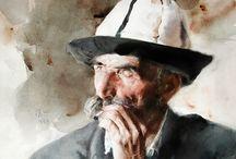 watercolour portrait inspiration