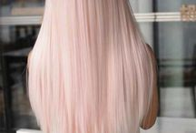 Hair color pink