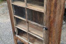 Diy window cabinet