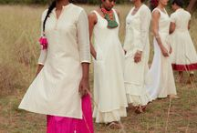 Collection of Classic Festive Whites by Upasana / #ethical #fashion #ecru #consciousluxury