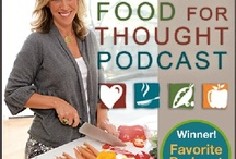 """Food for Thought Podcast / Vegetarian (it's vegan!) Food for Thought is a """"life-changing"""" podcast that leaves listeners feeling supported, motivated, and inspired. Celebrating a way of life that encompasses compassion for everyone, this podcast addresses all every issue related to being vegan, including food, cooking, nutrition, animal rights, family dynamics, food politics, and social psychology – and debunks the myths surrounding these issues. / by Colleen Patrick-Goudreau"""