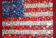 SEASONS // US Holidays / Patriotic US Art and stars and stripes themed crafts