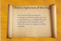 "Of Gods and Men / Aphorisms that were given as little extras in Almine's online course ""The Book of Gods and Men"". Enjoy!"