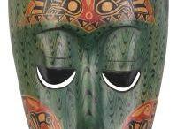 mascaras africanas para filme ao vale das sombras / referencia visual de mascaras africanas e tribais