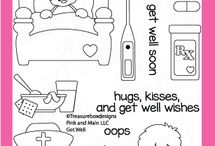 Get Well / Clear stamp from pinkandmain.com
